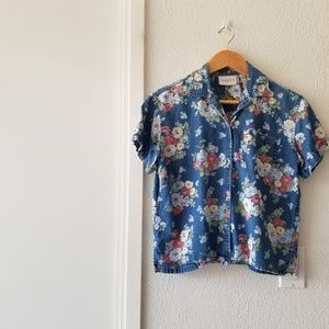 liz claiborne • button down top